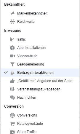 Facebook Ads Guide: Beitragsinteraktionen